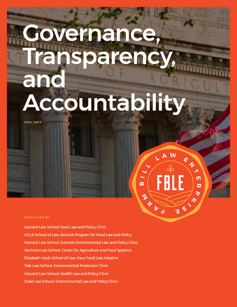 Governance, Transparency, and Accountability