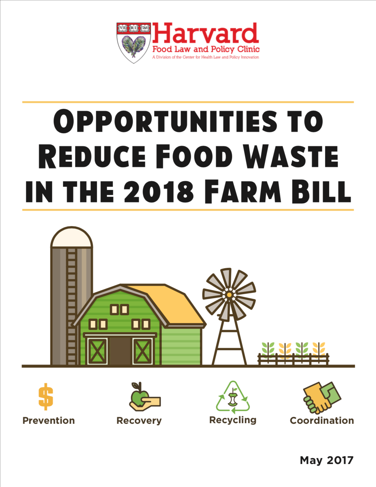 Opportunities to Reduce Food Waste in the 2018 Farm Bill